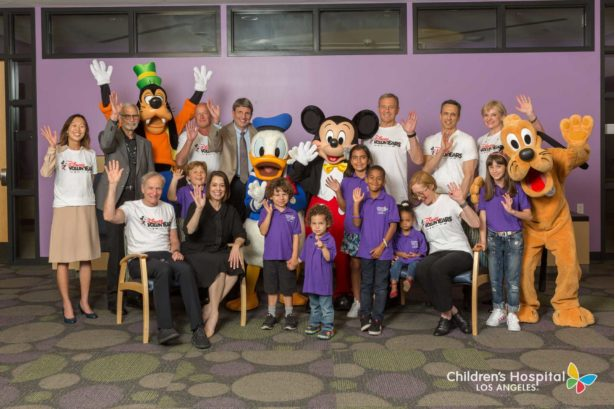 Disney VoluntEARS and Characters make a hospital visit