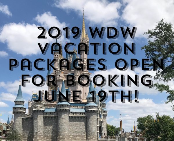 2019 Walt Disney World Vacation Packages Available for Booking June 19th