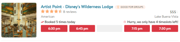 OpenTable May No Longer Be Reserving Select Disney Dining Locations 5