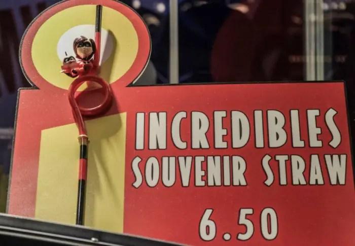 'Incredibles' souvenir straw