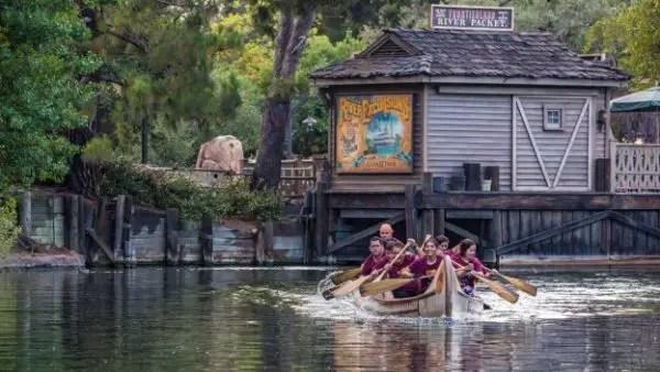 Cast Members Take Part In Annual Disneyland Resort Canoe Race