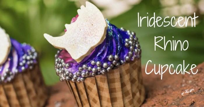Iridescent Rhino Cupcake at Animal Kingdom Lodge
