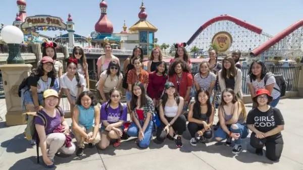 Girls Who Code visited Disneyland Resort