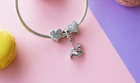 Minnie Mouse Eiffel Tower Pandora Charm