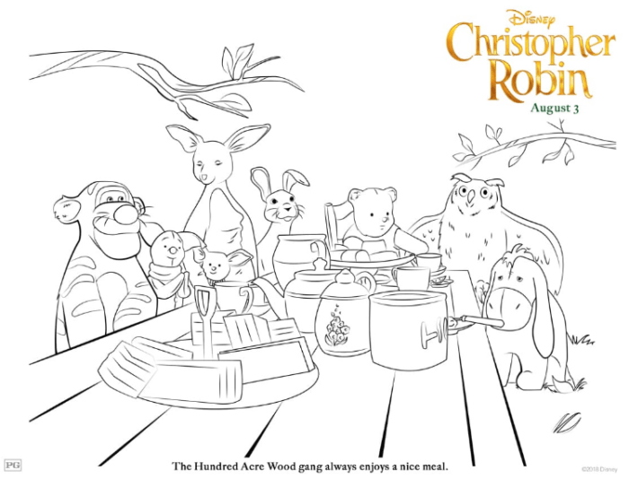 "Disney's ""Christopher Robin"" Coloring Pages 1"