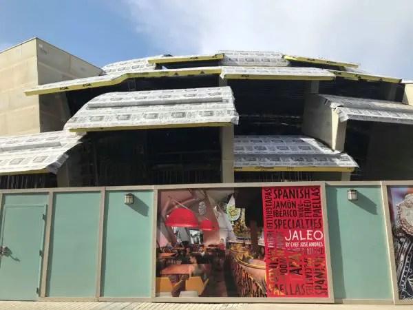 Jaleo construction progress