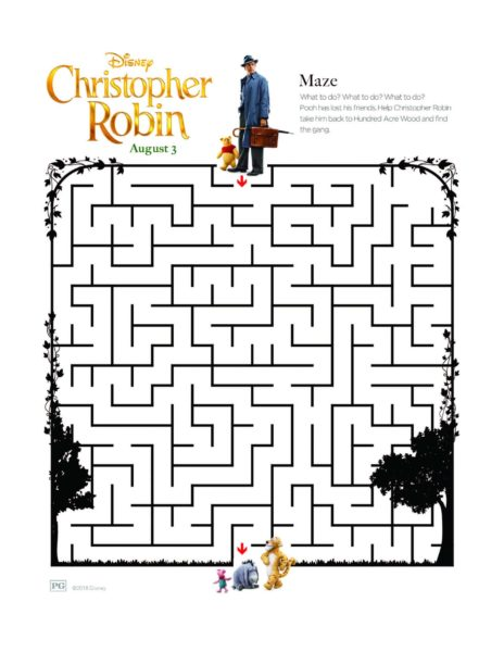 "Disney's ""Christopher Robin"" Coloring Pages 11"