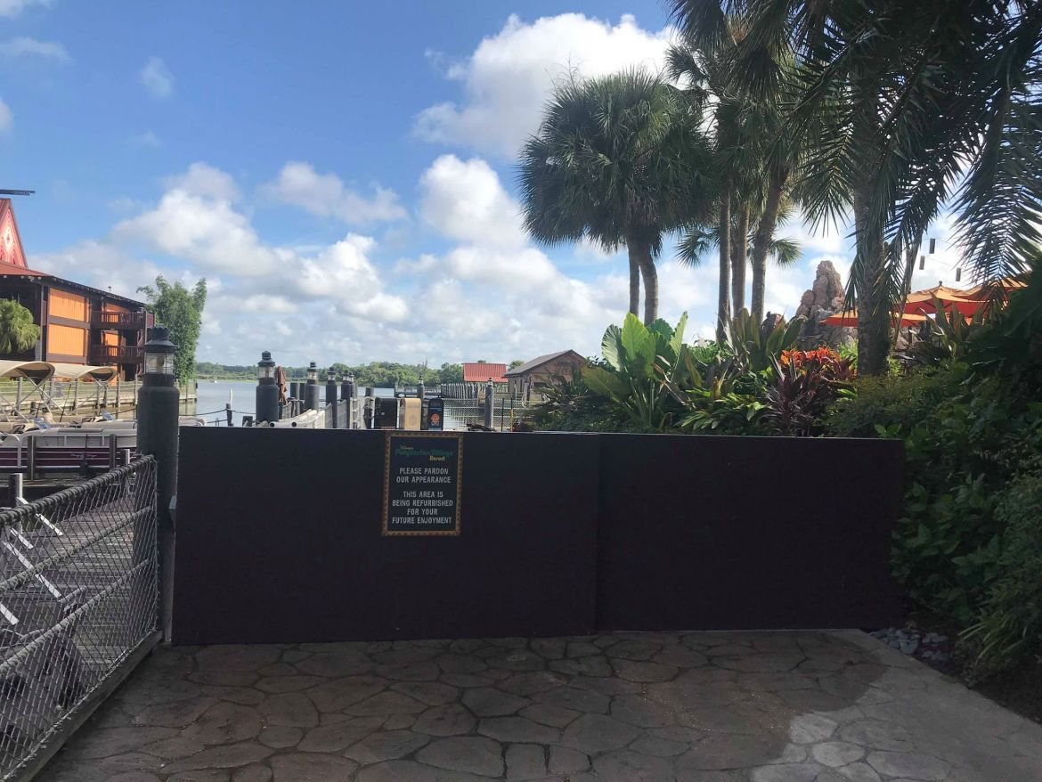 Construction Underway on the Grounds at Disney's Polynesian Village Resort