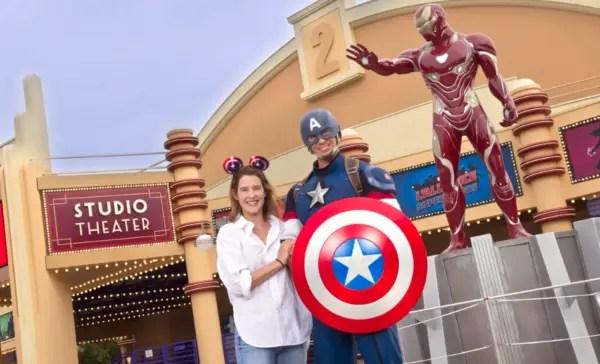 Cobie Smulders Meets Captain America