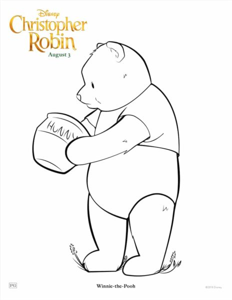 "Disney's ""Christopher Robin"" Coloring Pages 6"