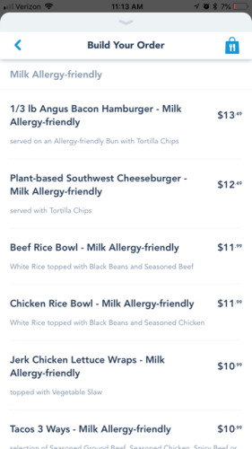 Allergy-Friendly Options Now Available for Mobile Order on the My Disney Experience App 4