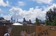 Construction for Star Wars: Galaxy's Edge at Walt Disney World