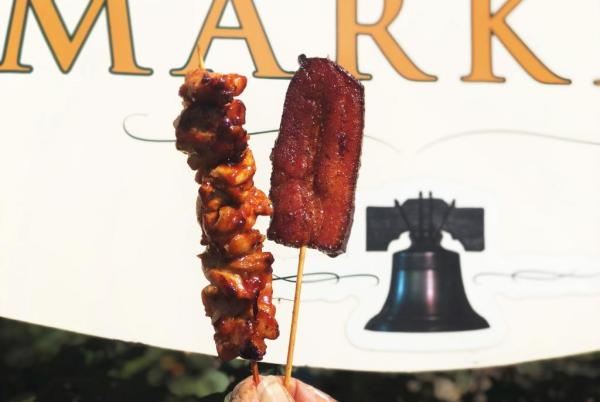 Candied Chicken and Bacon Skewers at Magic Kingdom