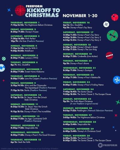 FreeForm Has Released the Kickoff to Christmas Schedule 5