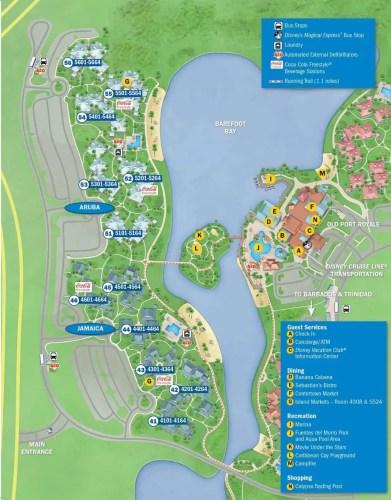 New Disney's Caribbean Beach Resort map