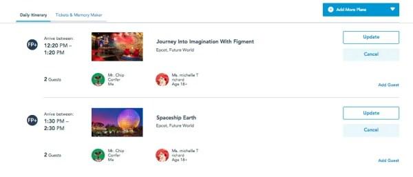 My Disney Experience Website gets an update 2
