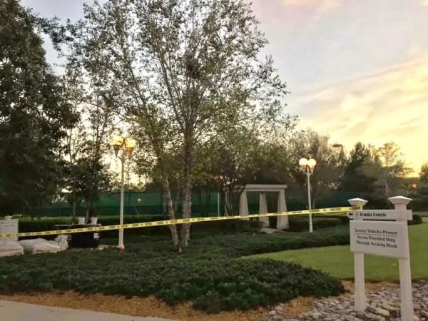 Disney's Boardwalk Resort Tennis Courts Currently Under Construction 2