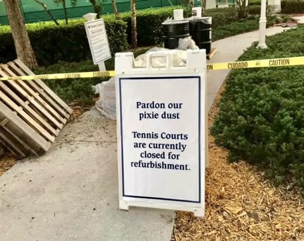 Disney's Boardwalk Resort Tennis Courts Currently Under Construction 4