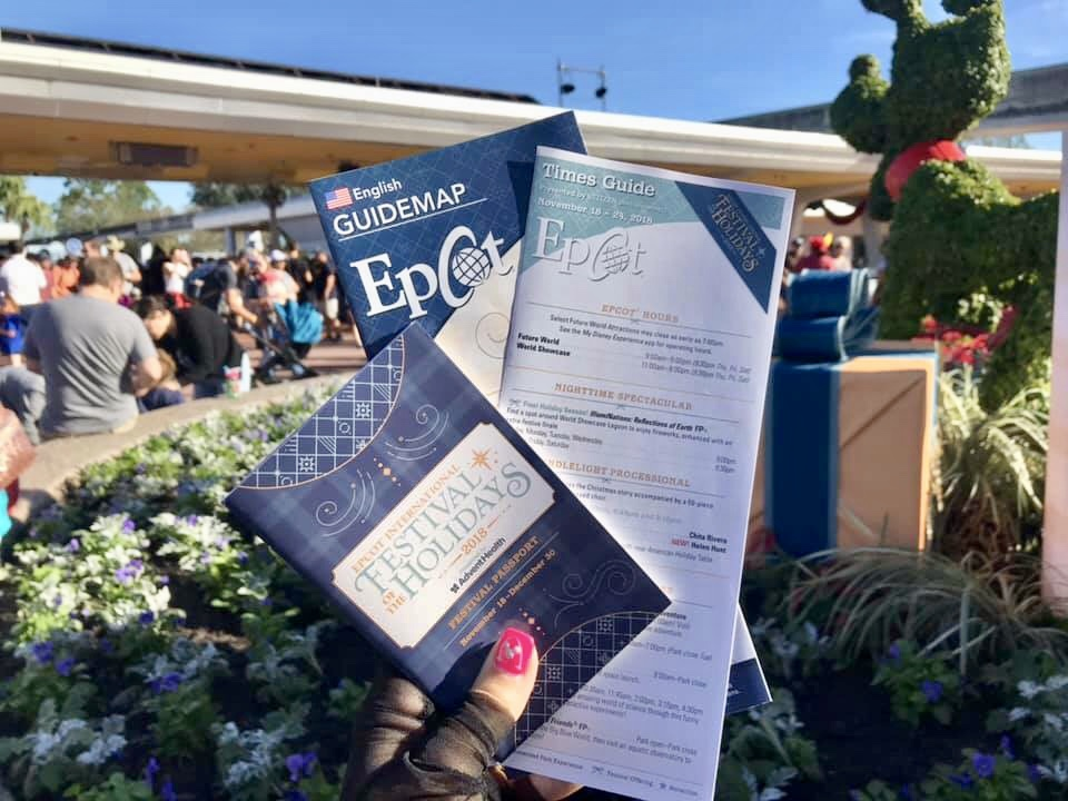 Festival of the Holiday's at Epcot Passport, Park Map, and Times Guide