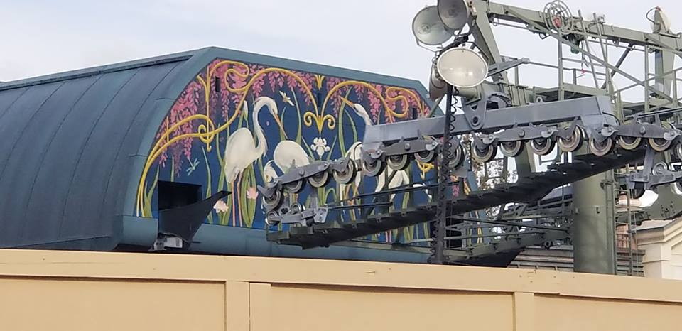 Epcot Skyliner Hub Gets Fresh Coat of Avian Inspired Paint