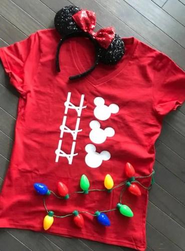 Disney Christmas Shirt Designs.Ho Ho Ho Merry Disney Christmas T Shirt