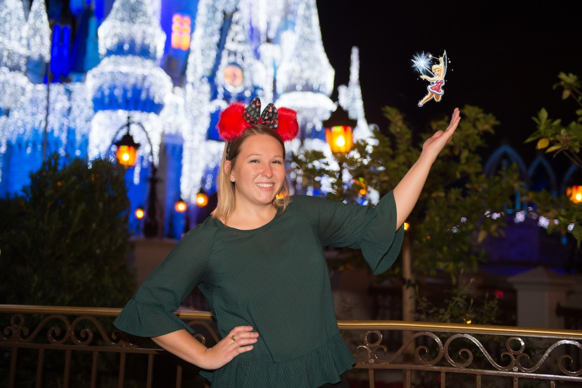Festive PhotoPass Magic Shots During Mickey's Very Merry Christmas Party