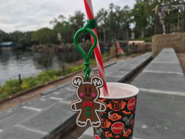 Mickey gingerbread straw