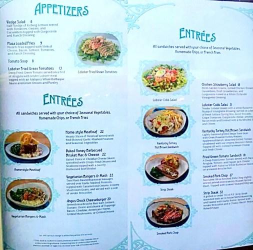 Plaza new menu