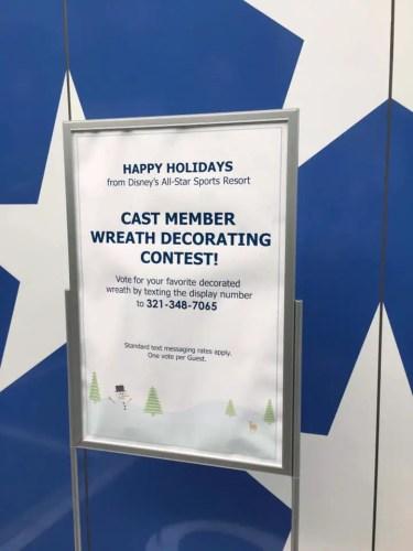 Disney Resorts Wreath Decorating Contest - Cast Member Creations
