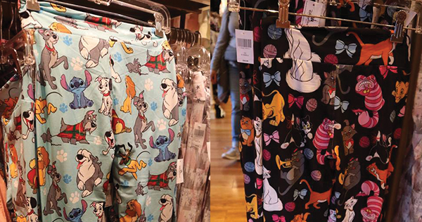 New Disney Dogs and Disney Cats Leggings At The Disney Parks 1