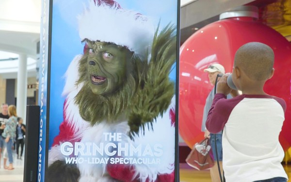 Grinch was spotted at a Florida Mall