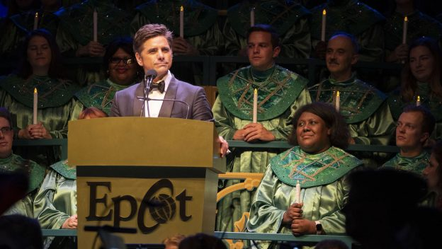 Disney Fanatic John Stamos at Epcot International Festival of the Holidays