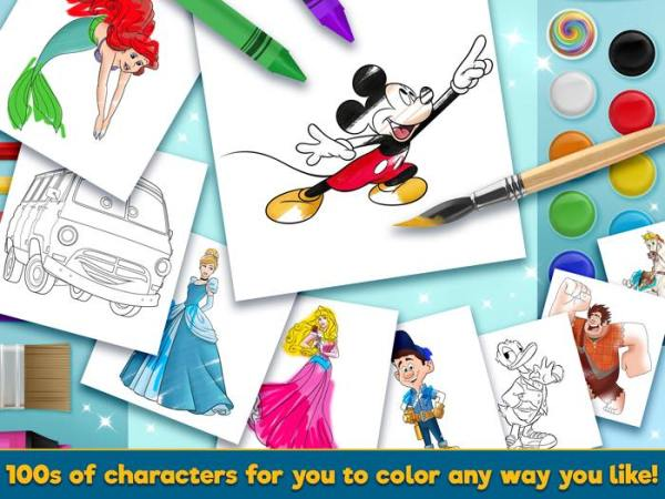 Touch Press Releases Disney Coloring World App for Android and iOS