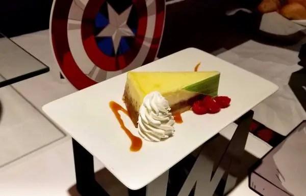 Marvel Day at Sea dessert