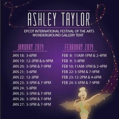 Ashley Taylor Signing Dates