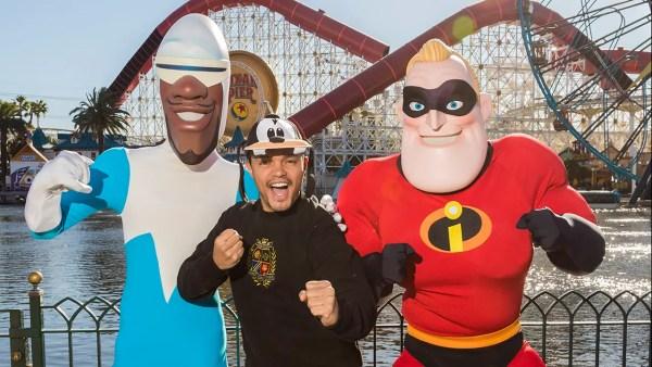 Trevor Noah Meets Incredibles at Pixar Pier
