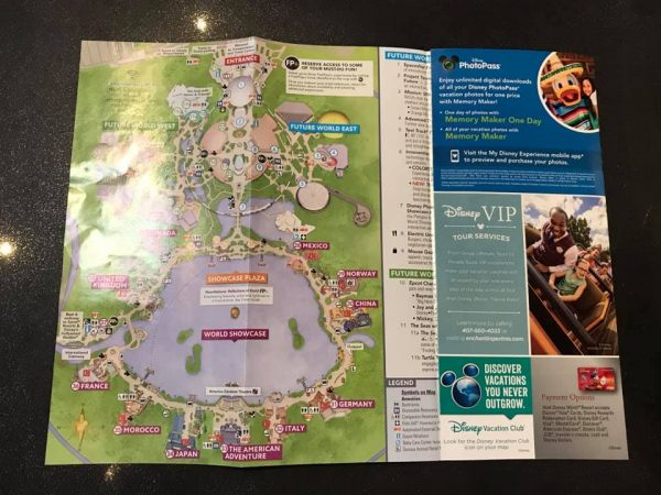 New Epcot Map Spotted at the Parks.