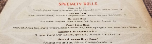 Ahead of a Full Menu Change in Two Weeks, Kona Cafe Introduces New Sushi Selections 1