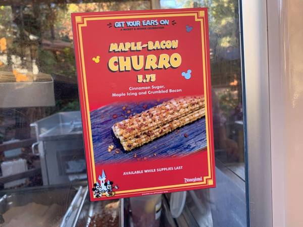 Maple Bacon Churro Spotted at Disney California Adventure Park!