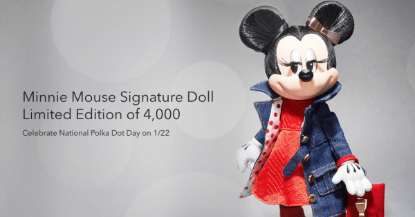 Rock The Dots Limited Edition Minnie Mouse Signature Doll 1