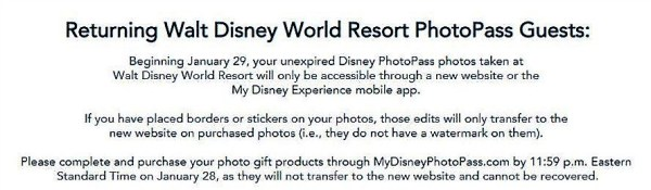 PhotoPass Guests Complete Your Purchases By Tonight, PhotoPass Will Have a New Website Tomorrow 2