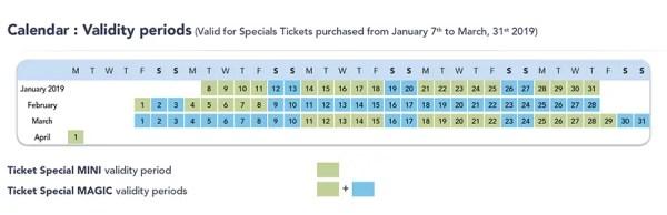 Disneyland Paris schedule tickets child price promo