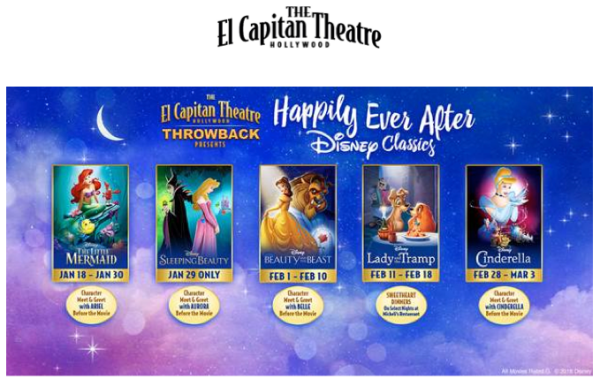 Disney Classic Movies at The El Capitan Theatre
