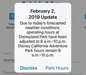 Disneyland Closes Early Due to Rain 1
