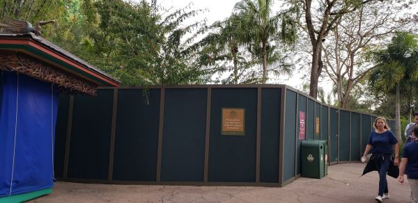 New Construction Wall up at Animal Kingdom Park