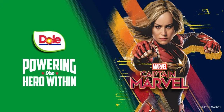 Dole + Captain Marvel = Female Superheroes
