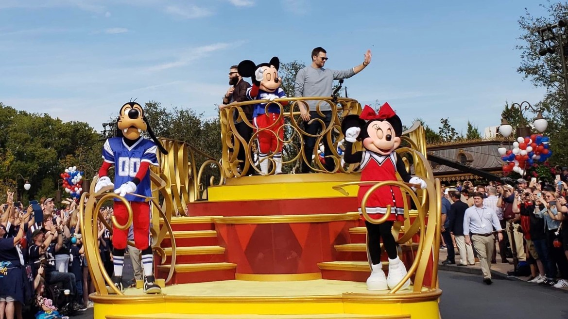 The Patriots in the Super Bowl Parade at Magic Kingdom