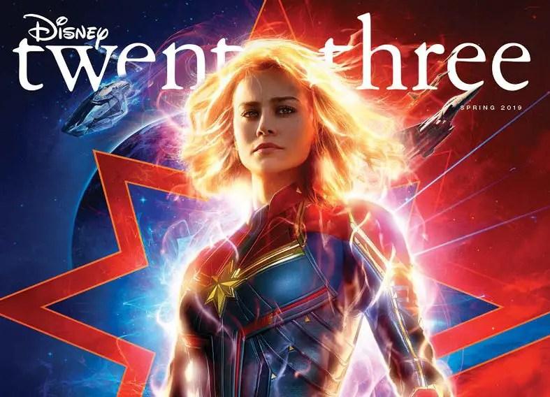 Captain Marvel on the Cover of the New Disney Twenty-Three