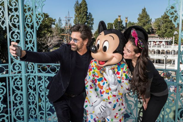 John Stamos and Wife Caitlin Celebrate First Anniversary at Disneyland Park 1