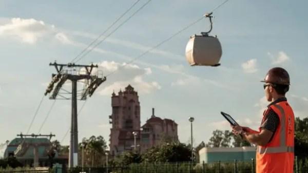 Disney Skyliner Test Run From Disney's Caribbean Beach Resort to Disney's Hollywood Studios 1